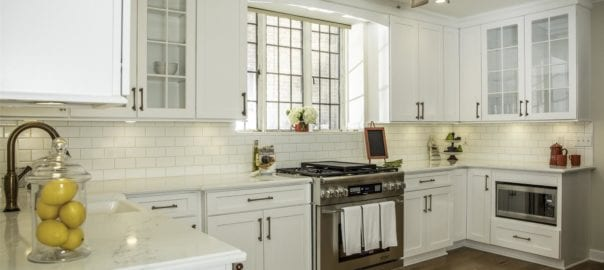 White contemporary cabinets