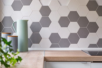 Unique Tile Backsplash