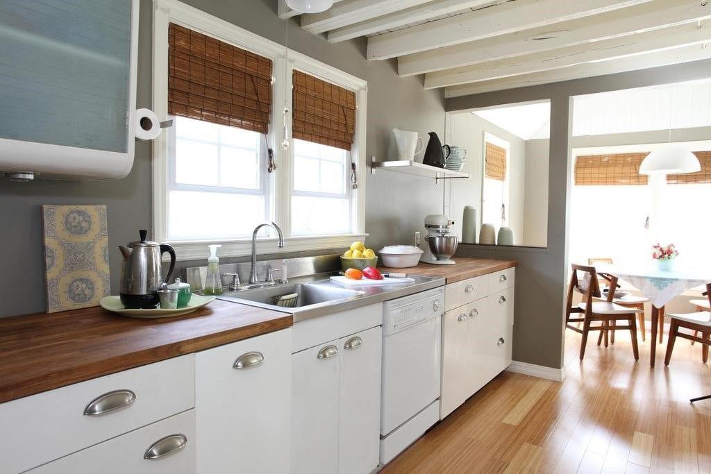 kitcten with wood countertops
