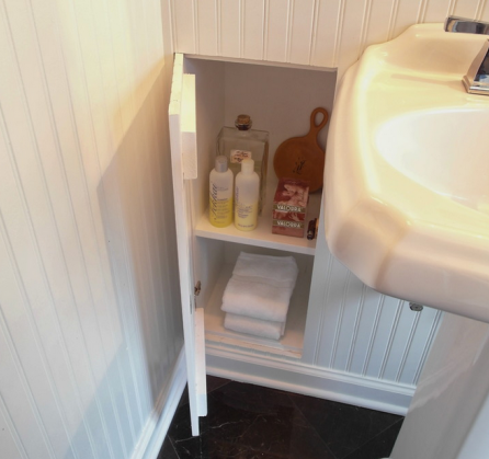shelf under sink