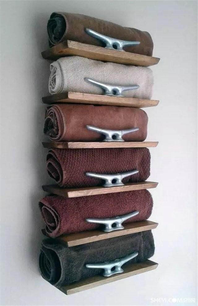 Rolled Towel Shelving