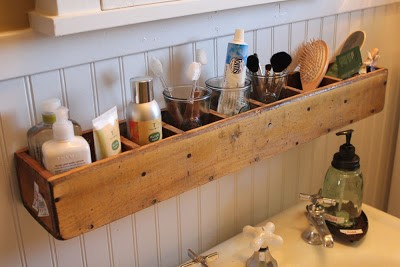 above the sink box storage