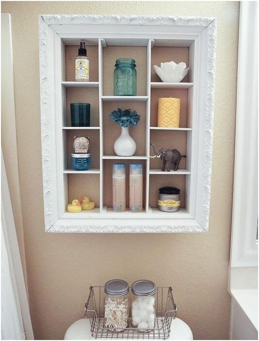 shadowbox frame over toilet