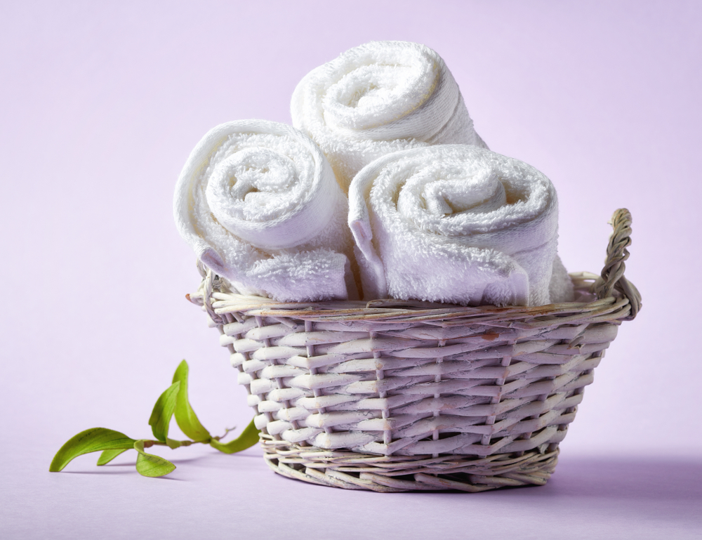 basket of towels