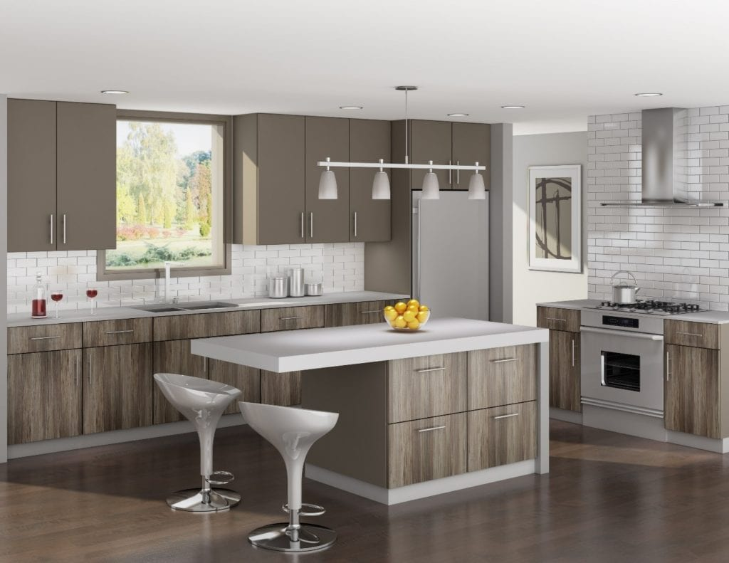 linear kitchen style