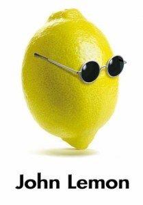 lemon with sunglasses