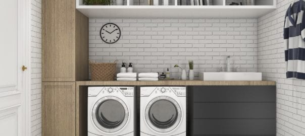 Laundry Storage Ideas Lancaster Red Rose Cabinets