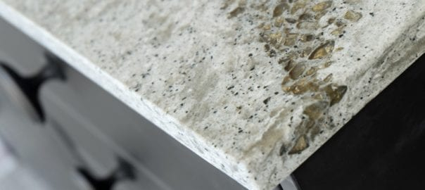 Closeup of beautiful quartz countertop material