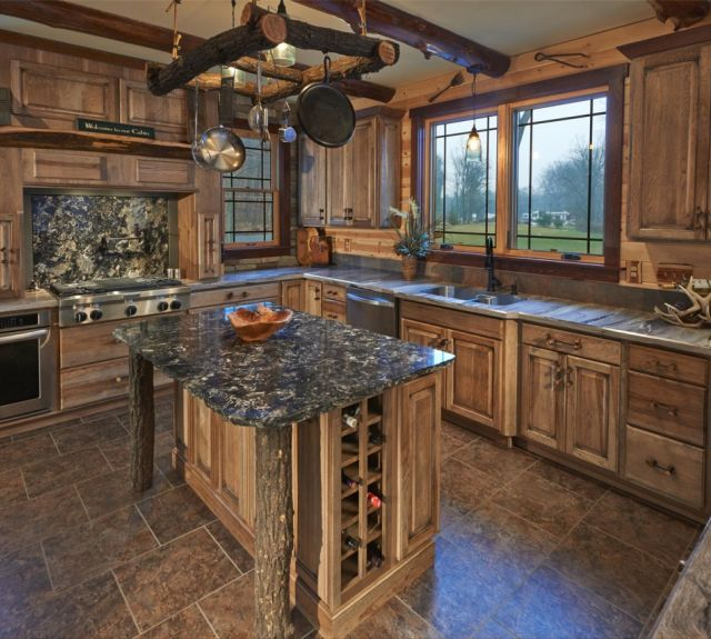 Modern kitchen with custom wood cabinets